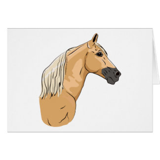 Palomino Tennessee Walking Horse 3 Note Card