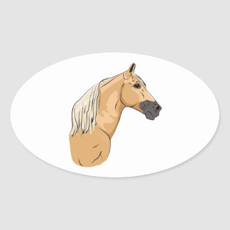 Palomino Tennessee Walking Horse 3 Oval Sticker