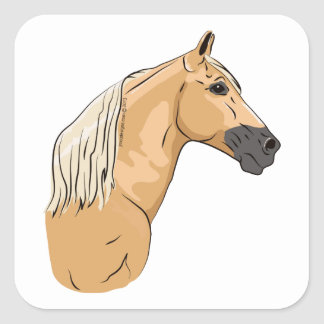 Palomino Tennessee Walking Horse 3 Square Sticker