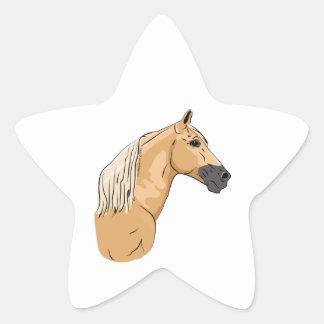 Palomino Tennessee Walking Horse 3 Star Sticker