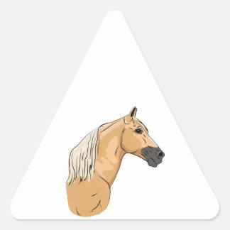 Palomino Tennessee Walking Horse 3 Triangle Sticker