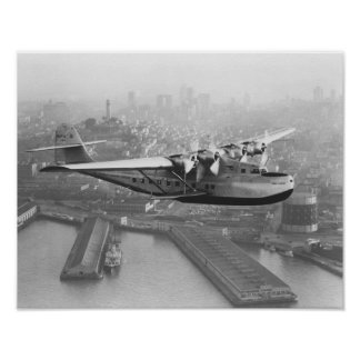 Pan American China Clipper and San Francisco 2 Poster