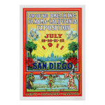 Panama - California Exposition in San Diego 1911 Poster