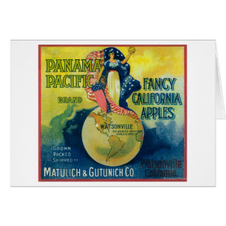 Panama Pacific Apple Crate Label Greeting Cards