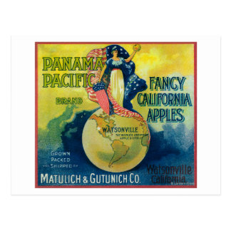 Panama Pacific Apple Crate Label Post Cards