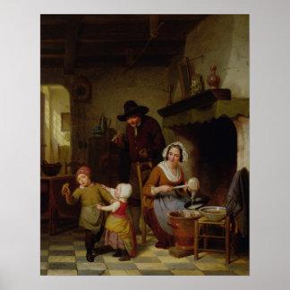 Pancake Day, 1845 Poster