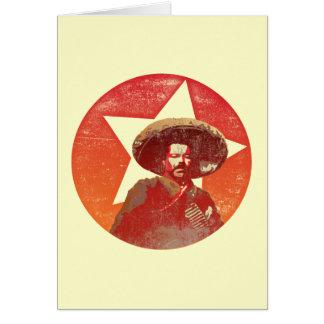 Pancho Villa Vintage Red Star Card