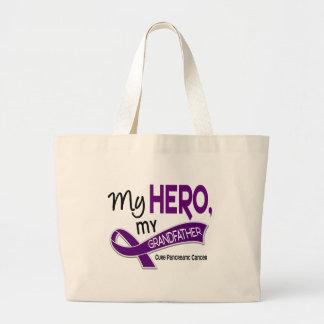 Pancreatic Cancer MY HERO MY GRANDFATHER 42 Jumbo Tote Bag