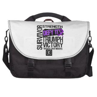 Pancreatic Cancer Survivor Defy It Laptop Bag
