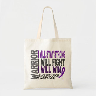 Pancreatic Cancer Warrior Budget Tote Bag