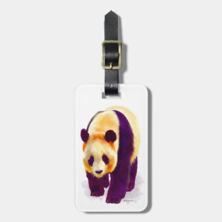 Panda 3 luggage tag