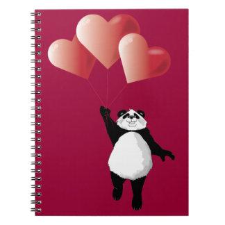 Panda and Balloons Notepad Notebook