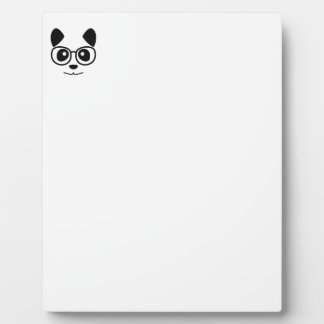 Panda And Glasses Plaque