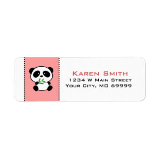 Panda Bear Animal Return Address Labels