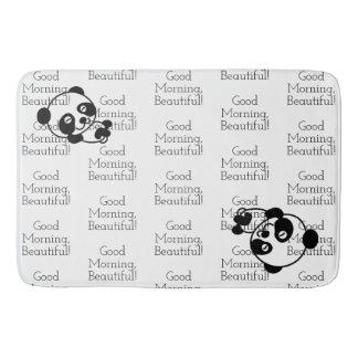 Panda bear bathroom mat