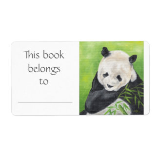 Panda Bear book label