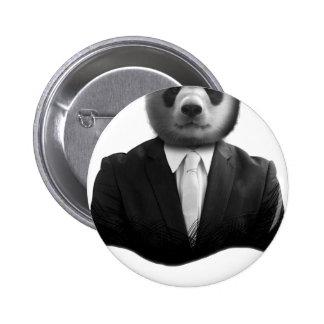 Panda Bear Business Suit 6 Cm Round Badge