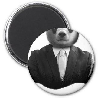 Panda Bear Business Suit 6 Cm Round Magnet