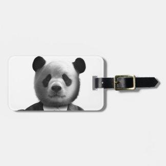 Panda Bear Business Suit Bag Tag