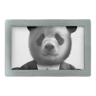 Panda Bear Business Suit Rectangular Belt Buckle