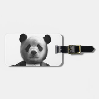 Panda Bear Business Suit Travel Bag Tag