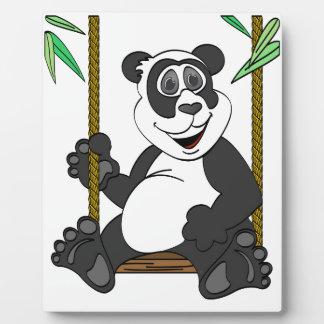 Panda Bear Cartoon Swing Plaque