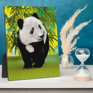 Panda Bear Cub Plaque