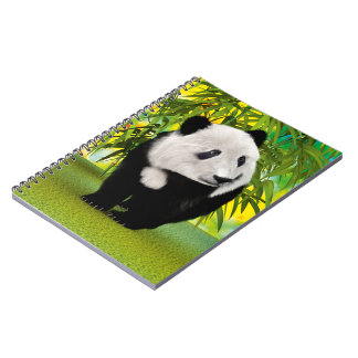 Panda Bear Cub Spiral Notebook
