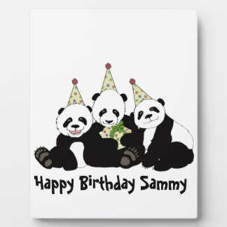 Panda Bear Party by Kindred Design Plaque