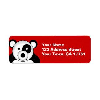 Panda Bear Red Address Labels