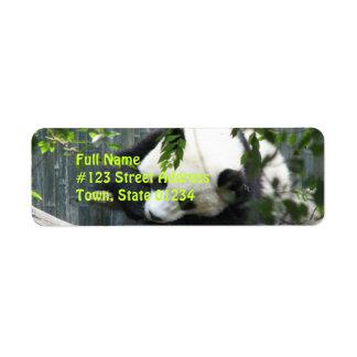 Panda Bear Return Address Label