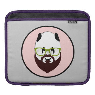 Panda Bear with a Beard iPad Sleeves
