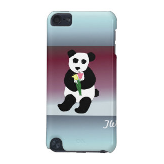Panda Bear with Flowers iPod Touch (5th Generation) Cases