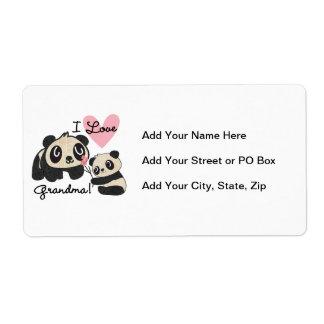 Panda Bears I Love Grandma