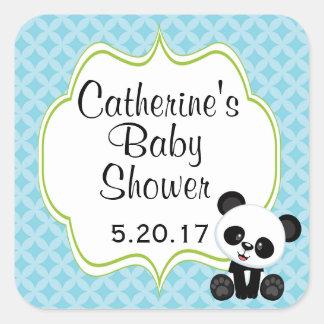 Panda Boy Baby Shower Stickers