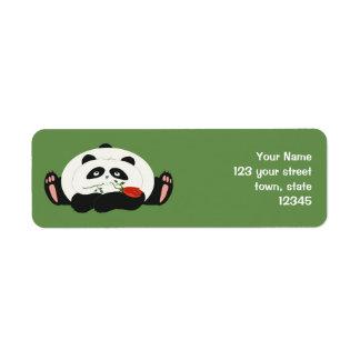 Panda Cartoon Romantic Love Cute Funny with Flower