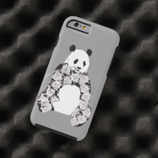 Panda Eating Bamboo Illustration Tough iPhone 6 Case