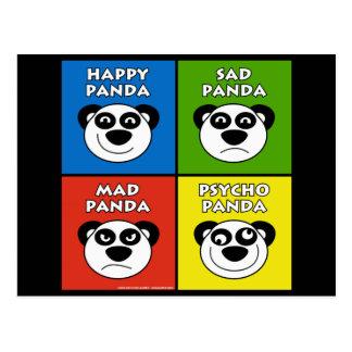 Panda Emotions Postcard