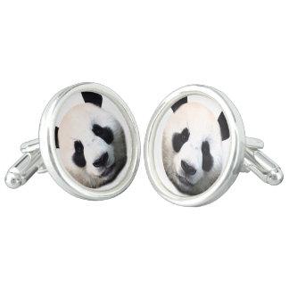 Panda face cufflinks