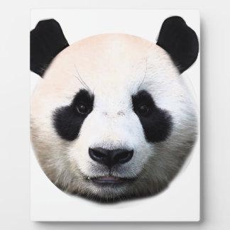 Panda face plaque