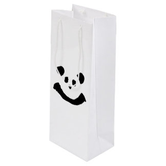 Panda Face Wine Gift Bag