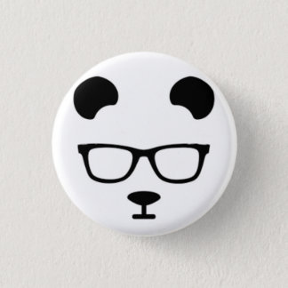 Panda geek 3 cm round badge