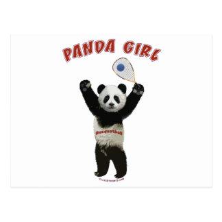 Panda Girl Racquetball Postcard