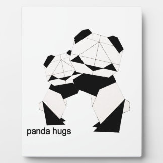 panda hugs plaque
