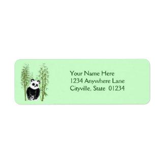 Panda in Bamboo Return Address Label