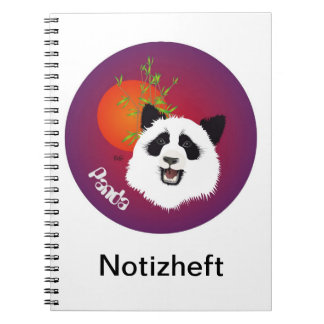 Panda meeting note booklet spiral notebook