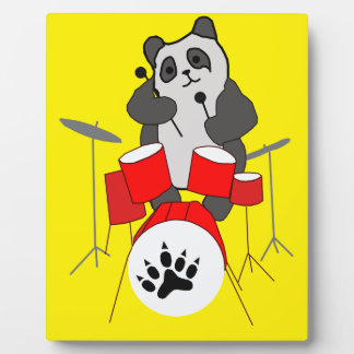 panda musician plaque
