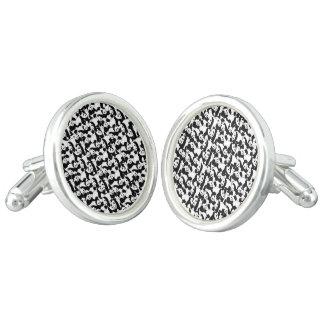 Panda pattern cufflinks