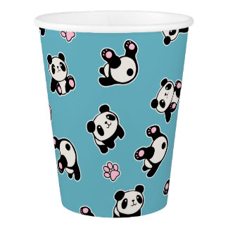Panda pattern paper cup