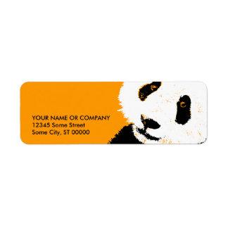 panda. return address label